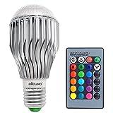 DiCUNO LED RGBW電球 カラー電球 マルチカラー 16色選択可 リモコン付き 遠隔操作 メモリー機能 E26口金 10W 調色可能  1個入り