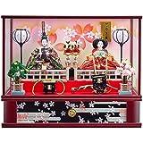 雛人形 親王ガラスケース 【花の舞】 三五 2人飾り [間口62cm] 【fn-56】 ひな祭り