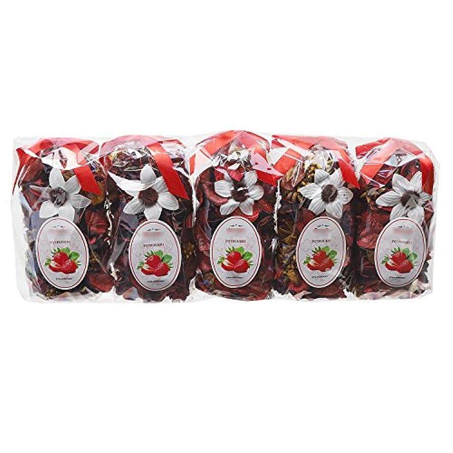 退屈させる外向き卒業記念アルバムQingbei Rina ポプリ 赤色 250g イチゴのポプリ ギフト 手作りの自然素材