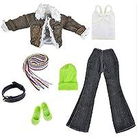 ファッションガール人形おもちゃCasual Wear Clothes服装with Scarf and Accessories forバービーToys子供用ガールズ誕生日クリスマスギフト