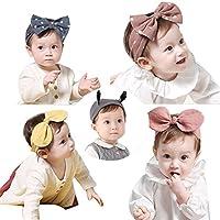 5 Pcs Super Cute Baby Girls Toddler Elastic Headbands Turban Knot Hairband Headwear
