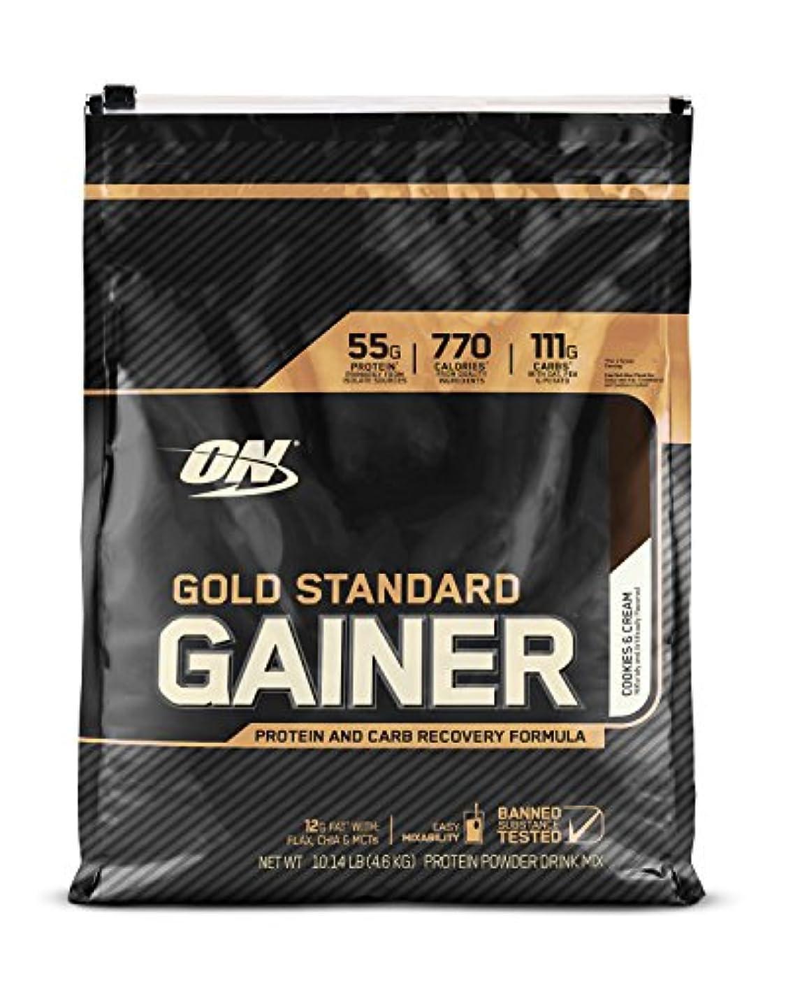 使用法ポンプ結晶ゴールドスタンダード ゲイナー 10LB クッキークリーム (Gold Standard Gainer 10LB Cookies & Cream) [海外直送品]