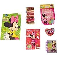 Disney Minnieマウスbow-tiqueアクティビティGiftセット~ Minnie笑( 300ページカラーリングandアクティビティブック、Shapedステッカー本、メモリ一致、アクティビティパッド、スパイラルジャーナル、クレヨン; 6 Items、1バンドル)