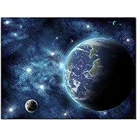 レモンツリーART 宇宙 地球 ポスター 壁写真 衛星写真 自然 風景画 地球 星空 銀河 インテリア装飾品 壁飾り 壁掛け絵画 部屋飾り、新築お祝いに最適(75x50cmx1枚)