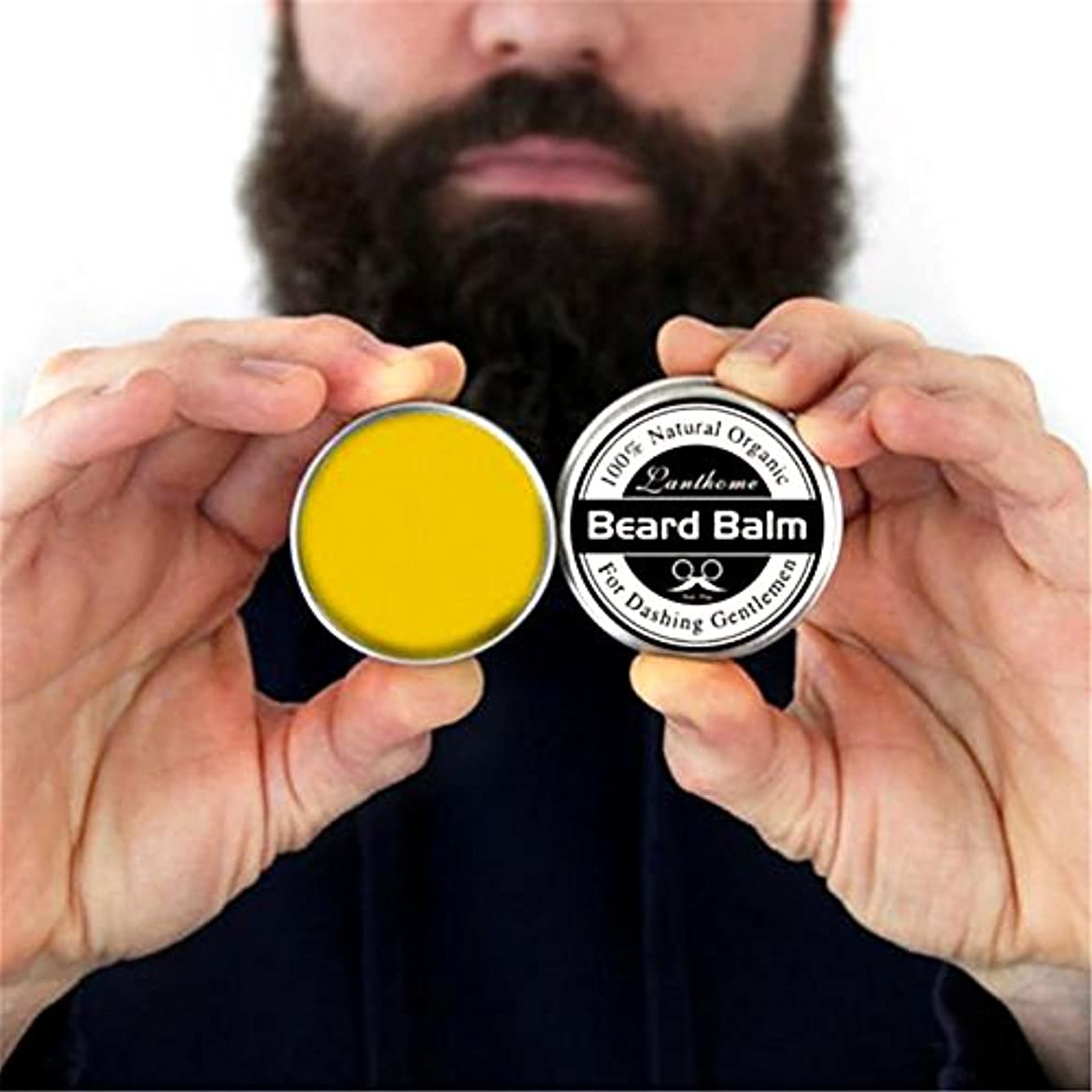 思春期許す鉱夫Ruier-tong ビアードバーム メンズひげワックス 口髭用ワックス ひげクリーム 保湿/滋養/ひげ根のケアなどの効果  ひげケア必需品 携帯便利