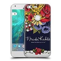 Official Frida Kahlo ブルーム レッド・フローラル ハードバックケース Google Pixel XL