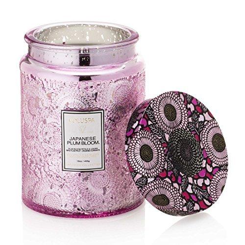 Voluspa Japanese Plum Bloom Large Glass Jar Candle [並行輸入品]