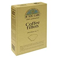 If You Care 100-Count No. 4 Cone Brown Coffee Filters, (100 Filters in Total) by If You Care
