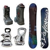 DEFIANCE メンズ スノーボード3点セット ブルー152+biホワイト+boブラック26.0