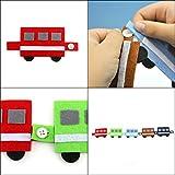ハッピークローバー ボタンをとめる練習 手作りフェルト教材【電車】 日本製 fe-train-button 画像