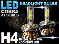 ダイハツ アトレー7(S221G S231G) アトレー ハイゼット(S220V S230V S220G S230G) オプティ クラシック(L800 L810) ヘッドライト用 H4 LEDバルブ CANBUSキャンセラー内蔵 COBRA製