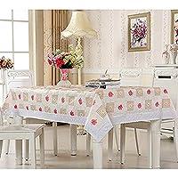 北欧風 食卓カバー テーブル クロス 長方形 137*183 デスク カバー 美しい 掩蓋物 タッセル ジオメトリ 可愛いカバー 気持ちいい ヨーロッパ風 カラー2 和式 サイドテーブルカバー カラーフル 机飾り 綺麗になり 薔薇柄 花柄
