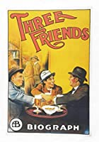 半分のロバ三人の友達 - レトロスタイルシアターポスタースタイルラージコットンティータオル