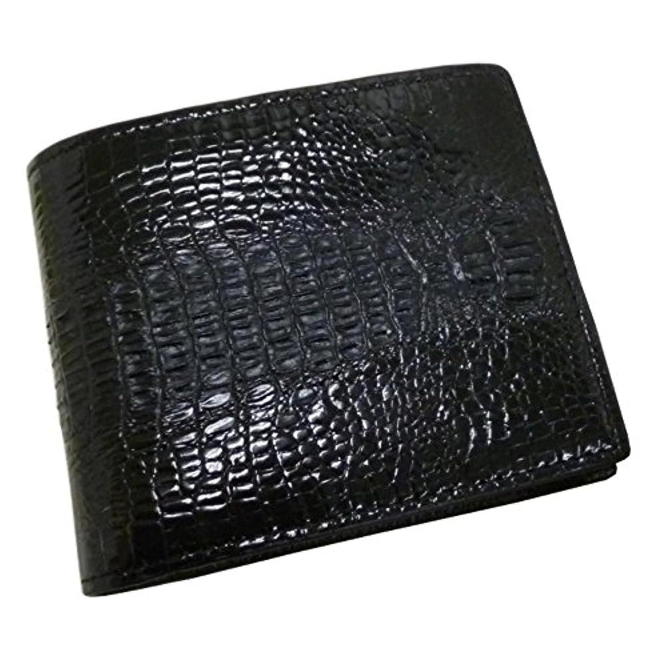 スーツケース貢献する地域サンタマリア[Santa Maria]クロコダイル 財布 背鰐HB 二つ折り メンズ