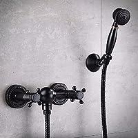 黒シャワーレースセット全銅掛け壁式簡易美式シャワーヘッド