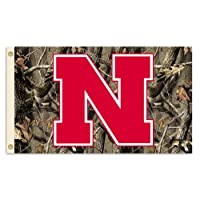 BSI PRODUCTS 96305 Nebraska Cornhuskers 2-Sided 28 in. X 40 in. Banner with Pole Sleeve