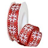 Morex Ribbon マターホーン フレンチワイヤー ポリエステル 1インチ×11ヤード レッドノウ アイテム 70125/15-109