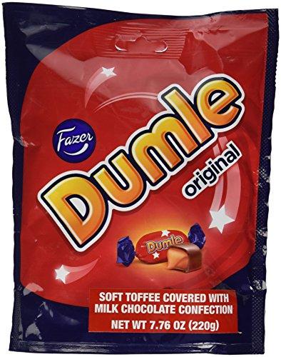 ファッツェル チョコレート ミルクキャンディー 220g×1袋 Fazer Dumle Original Finnish Milk Chocolate Soft Toffee Candy Candies Chocolates Sweets Bag