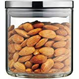 MIOCARO Glass Food Storage Containers Jar Stainless Steel Lids 600ml Airtight Canister Organization Sets Stackable
