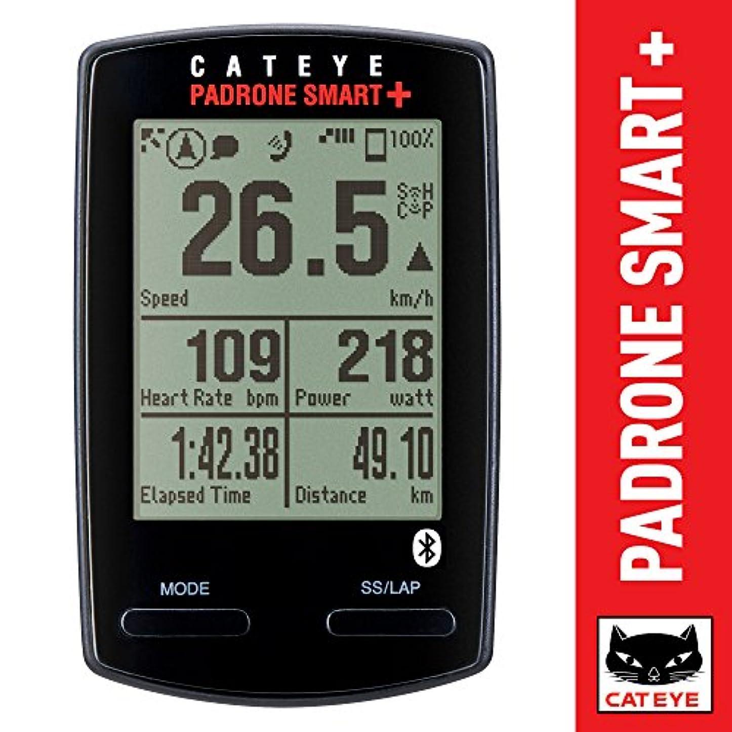 欠員落ち着いた取得CATEYE Padrone Smart + Cycling Computer Black One Size by Cat Eye