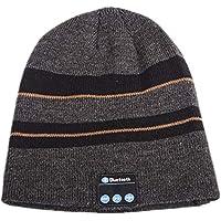 Bluetooth Beanie Hatワイヤレススピーカーヘッドセットヘッドフォンイヤホンステレオスピーカーとマイクを使用したマイク音楽キャップWinter Knitted