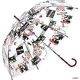 ワールドパーティー(Wpc.) ディズニー雨傘 ビニール傘 レッド 58cm レディース プリンセス/コラージュ DSV05-09 RD