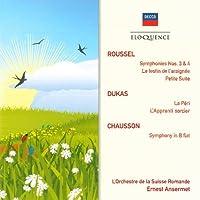 Roussel: Symphonies Nos. 3 & 4 / Dukas: La peri, L'Apprenti sorcier / Chausson: Symphony in B Flat by Ernest Ansermet (2010-06-01)
