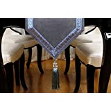 テーブルランナー - ラグジュアリー高品質布ガーデンリビングルームレストランデスクテーブルクロス ( 色 : グレー , サイズ さいず : 32*200cm )