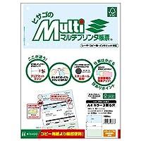 ヒサゴ 帳票 マルチプリンタ A4 カラー 3面 6穴 100枚 FSC2082