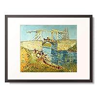 フィンセント・ファン・ゴッホ Vincent Willem van Gogh 「アルルの跳ね橋」 額装アート作品