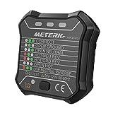Meterk ソケットテスター コンセントテスター GFCI 自動・ニュートラル・ライブアース線テス 回路・極性・検出器 壁コンセントのブレーカ ファインダー 漏電テスト 正しい配線用