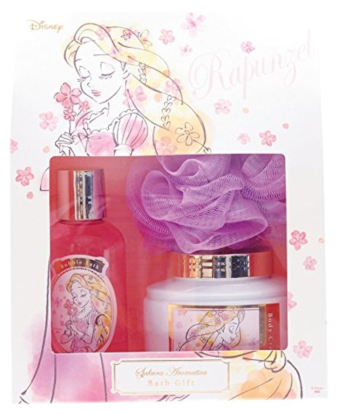 レルム紫のホールディズニー 入浴剤 ギフトセット ラプンツェル サクラアロマティカ サクラファンタジア の香り DIT-8-02