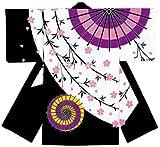よさこい衣装(コスチューム) ポリ綿きもの袖長半纏・法被 【男女兼用】フリーサイズ [73216]