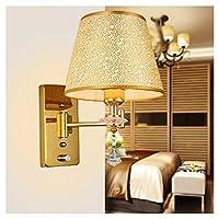 NKDK ヨーロッパの装飾ライトリビングルームポーチ通路寝室のベッドサイドウォールランプホテルエンジニアリングランプ (色 : シングルヘッド)