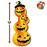 【ハロウィンエアブロウ】4段ハロウィン (1個) / お楽しみグッズ(紙風船)付きセット [おもちゃ&ホビー]