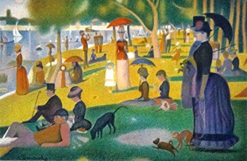 絵画 スーラ『グランドジャット島の日曜の午後』 36×42cm sura-1