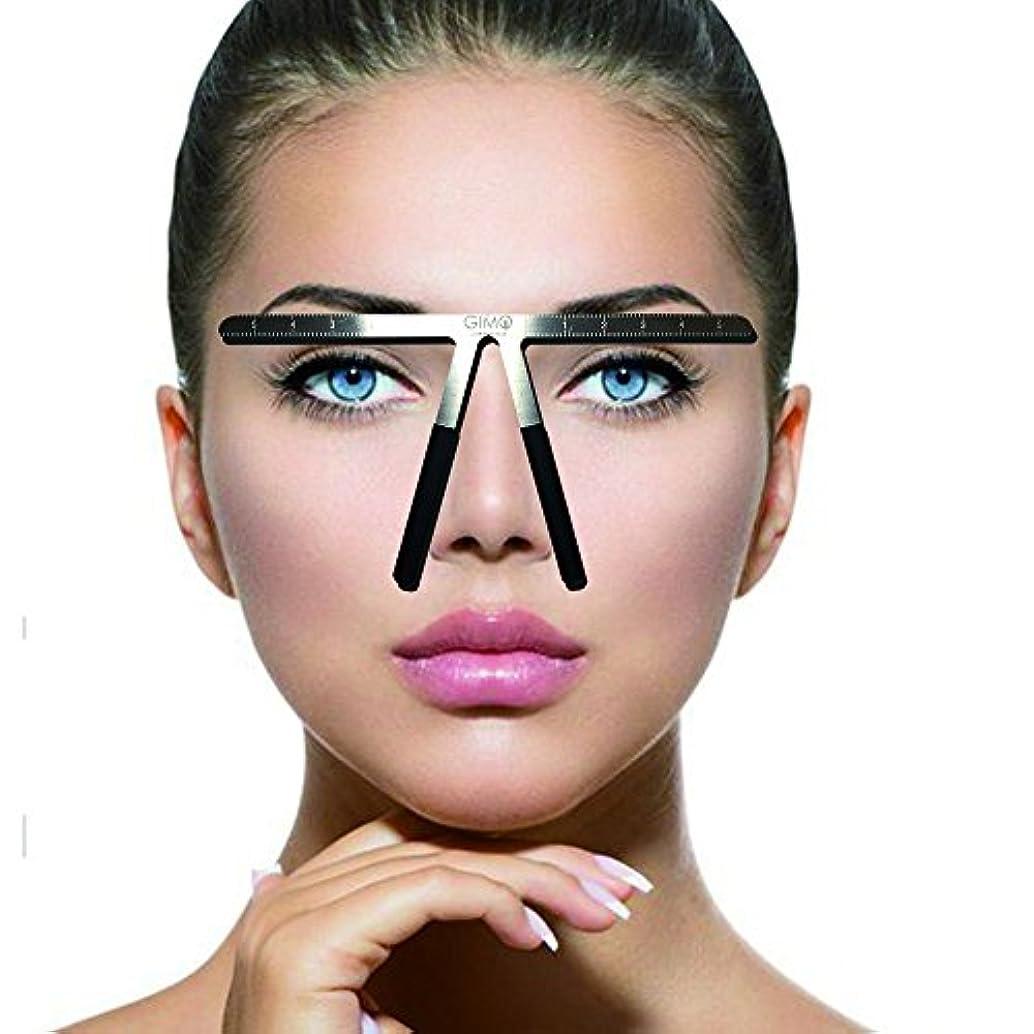 チャネルバイバイ中傷入れ墨の眉の定規3点の位置決め永久的な化粧道具