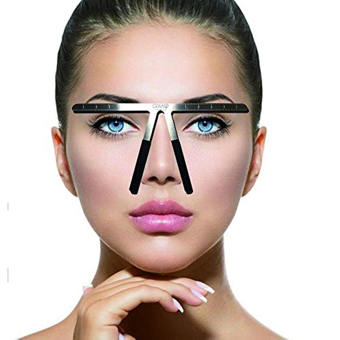 レビュー典型的な仲介者入れ墨の眉の定規3点の位置決め永久的な化粧道具