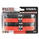 Karakal テニスラケット 交換用グリップ デュオ スーパーPU 2個パック ブラック/レッド