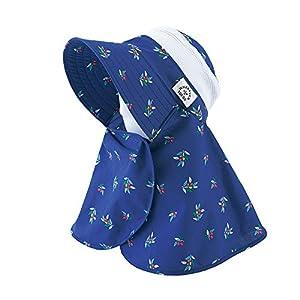 丸和貿易 ガーデニング帽子 ネックガード オリーブ ネイビー レディースフリー 1003824-01