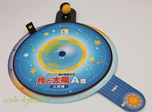 月と太陽の動きを学ぶ【三球儀】