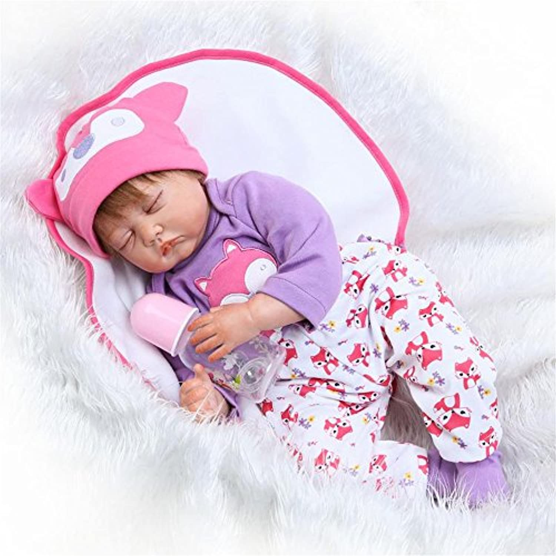 Sleeping Reborn新生児赤ちゃんソフトビニール製22インチシリコン人形Lifelike磁気口キッズ子供おもちゃ