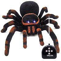 inverleeハロウィンリモートコントロールスパイダータランチュラScary Creepy Toy Prank Kids A Good Gift onハロウィン