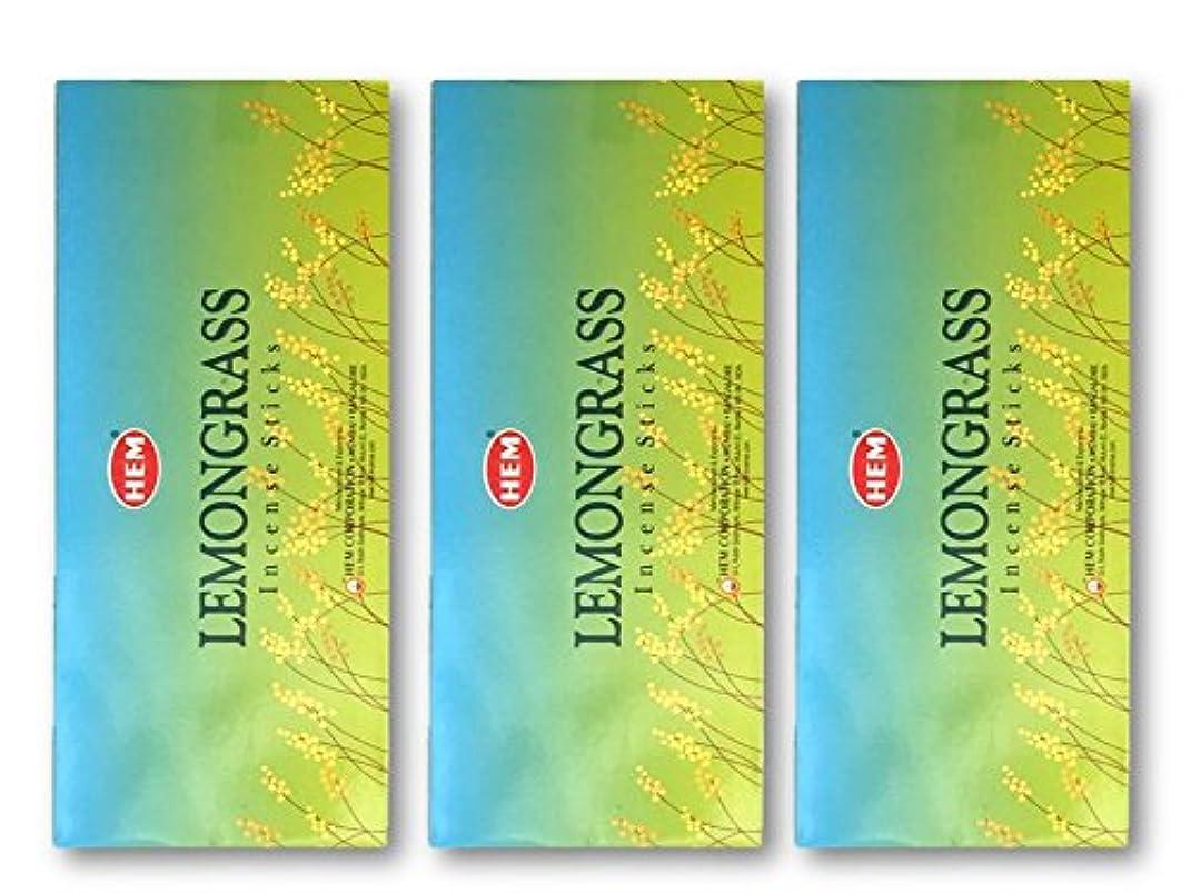 柔和側市区町村HEM(ヘム) スティックお香/六角香/ヘキサパック(18箱)3ケースセット (レモングラス)