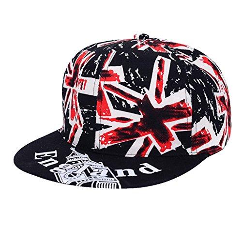 【ノーブランド品】ファッション ユニセックス 男性女性 ユニオン ジャック 英国旗 スナップ バックヒップホップ 帽子 キャップ