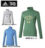 レディス adidas アディダス adicross タートルネック 長袖シャツ CCD66 日本仕様 S,AF7192ミッドグレー