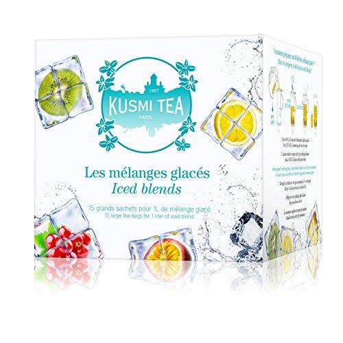 (KUSMI TEA) クスミティー アイス ブレンド ティーバッグ 8g×15袋入り (5種類、各3袋入り)