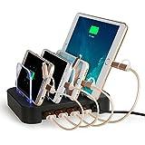 NexGadget 充電スタンド 4つUSBポート 収納充電 iPhone iPod iPad Androidスマホ対応可