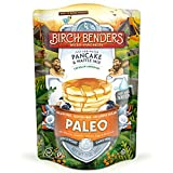 Paleo Pancake & Waffle Mix by Birch Benders, Low-Carb, High Protein, High Fiber, Gluten-free, Low Glycemic, Prebiotic, Keto-Friendly, Made with Cassava, Coconut & Almond Flour, Just Add Water, 12 oz