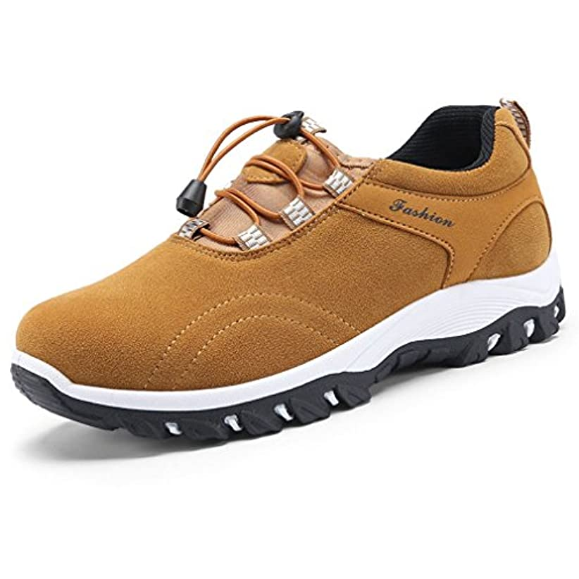 そよ風スイング外交官トレッキングシューズ メンズ 登山靴 ウォーキングシューズ オシャレ 滑りにくい 通気性良い アウトドア グリーン/グレー/ブルー